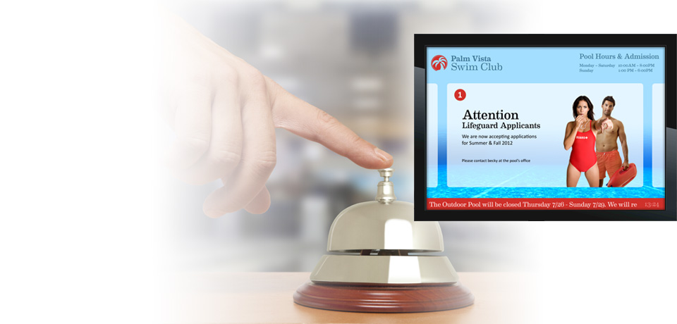 digital signage for hospitality