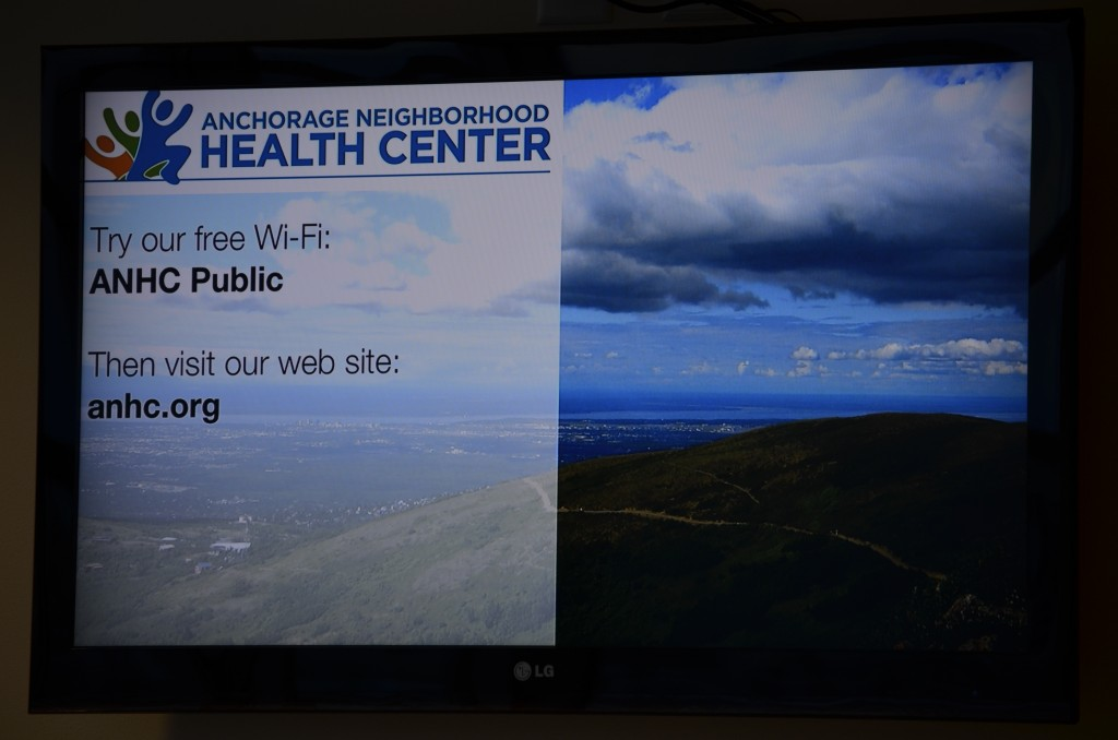 Healthcare digital signage screen