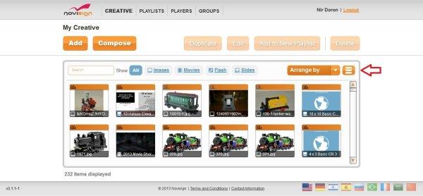 Creative Thumbnail View of Web Studio Editor