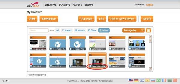 Duplicate Creative Button of Web Studio Editor
