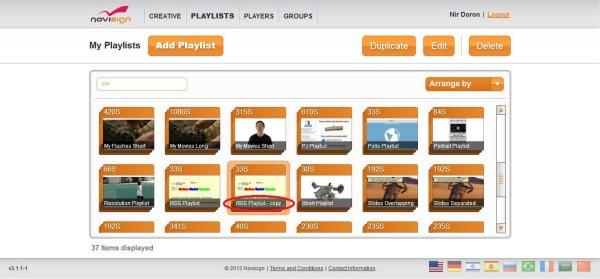 Duplicate Playlist Button of Web Studio Editor