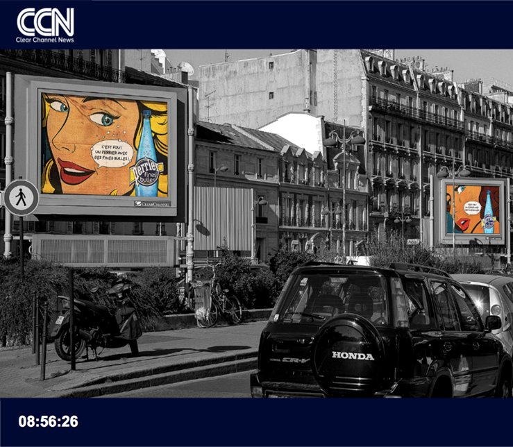 Digital signage of Clear Channel France