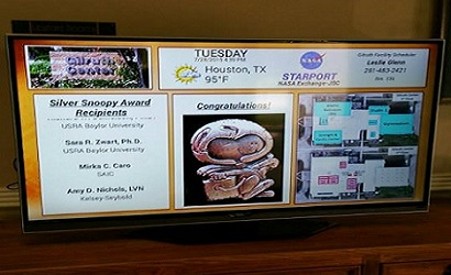 Digital signage at NASA