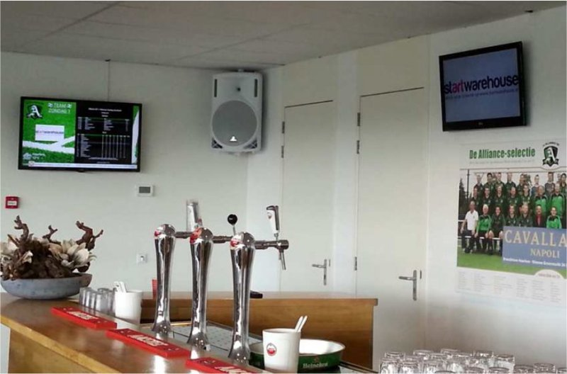 Digital signage of Alliance Soccer Club