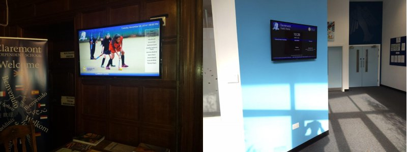 Digital signage of Claremont