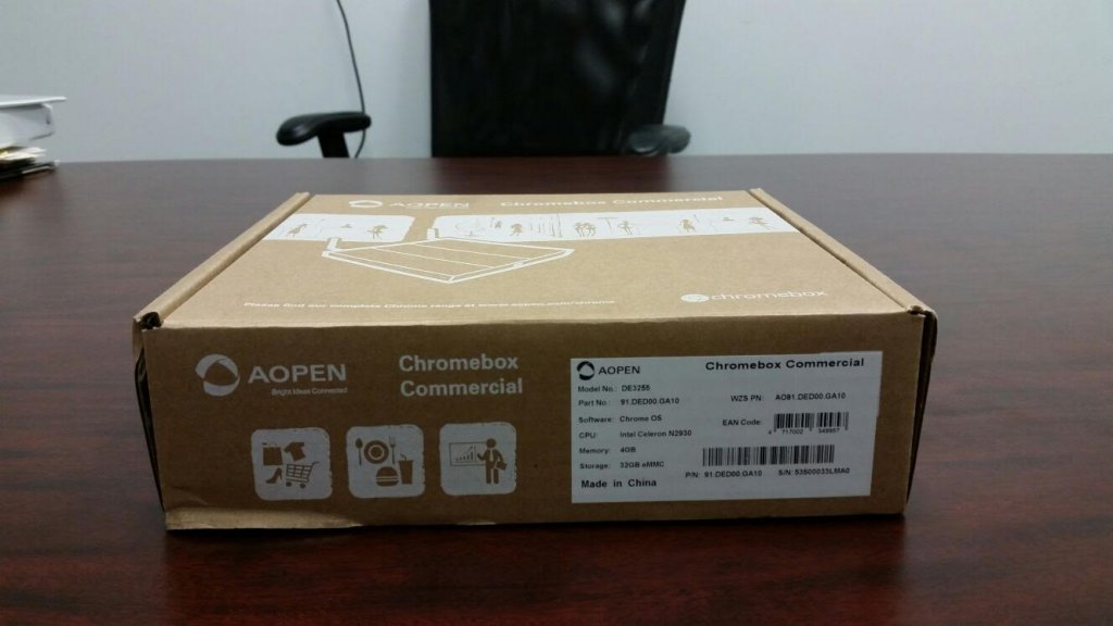 Unboxing AOpen Chromebox step 1