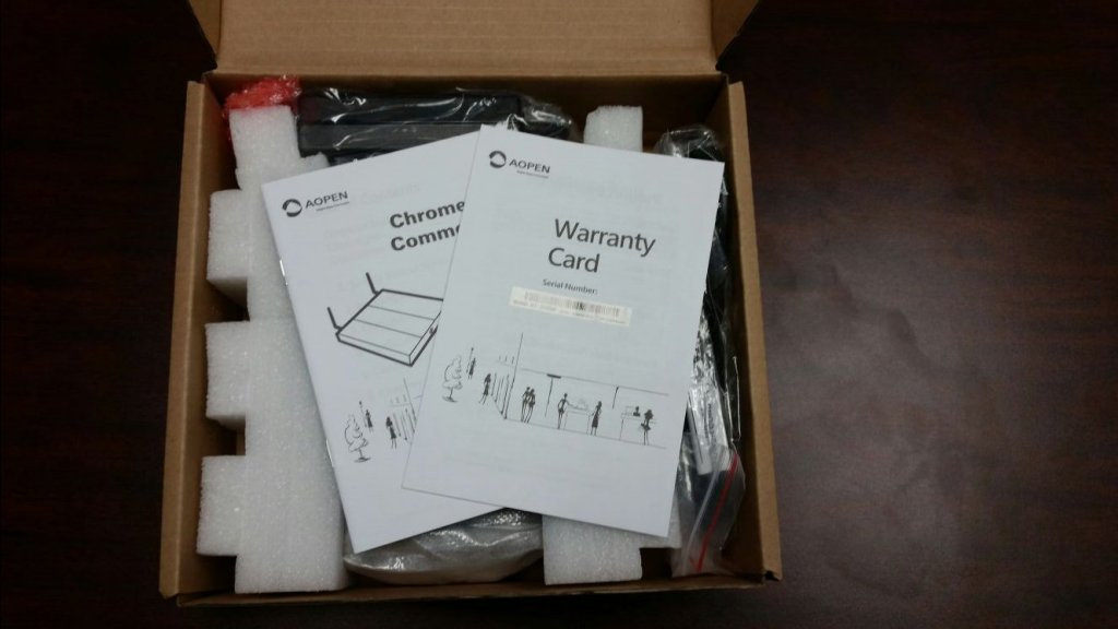 Unboxing AOpen Chromebox step 3