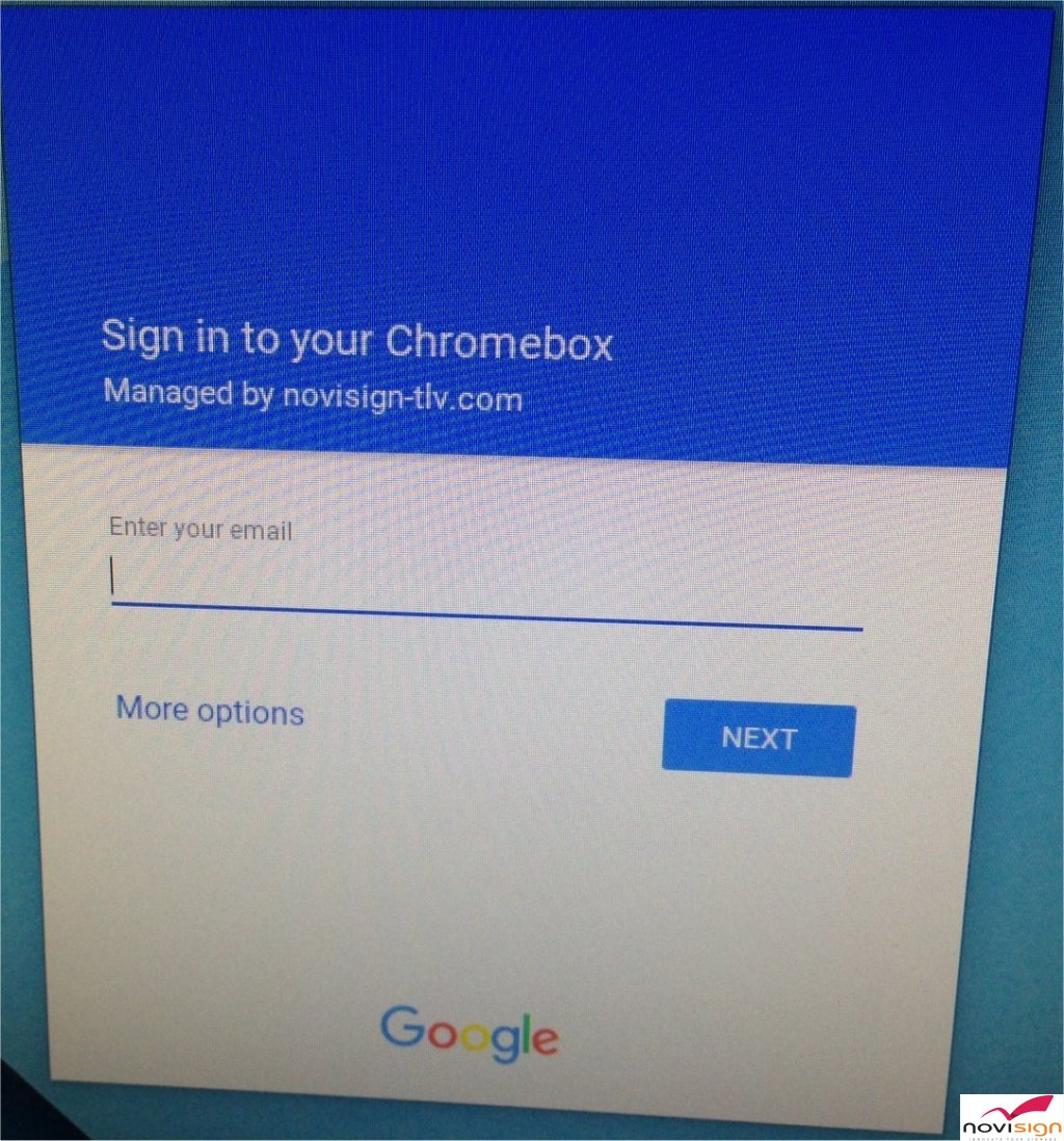 Chromebox managed device