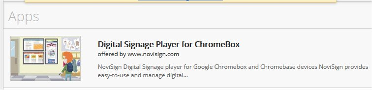 Chromebox digital signage app