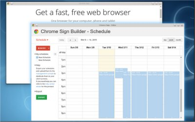 My experience with Google Chrome Sign Builder