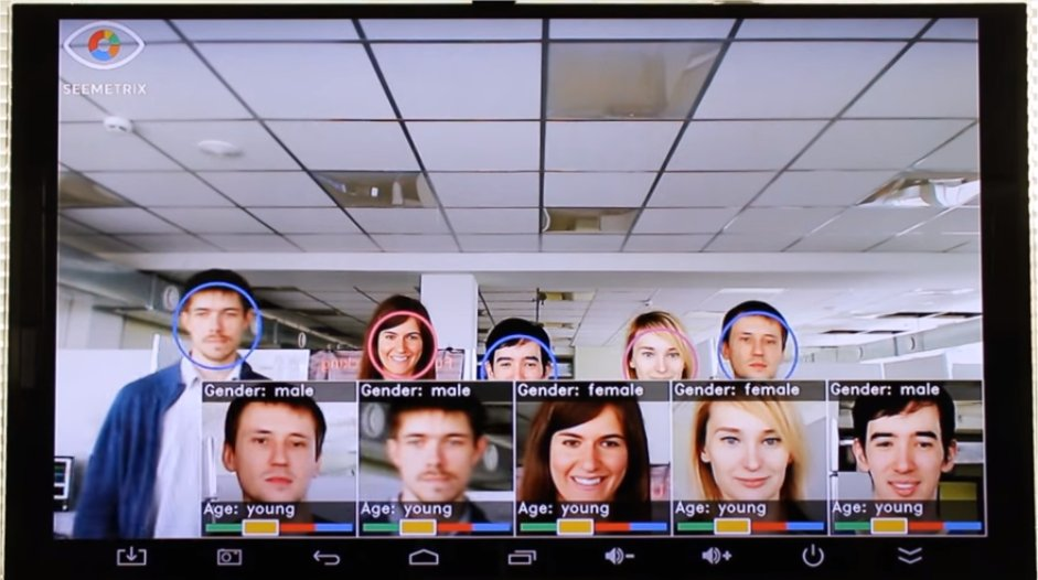 Digital signage with face recognition