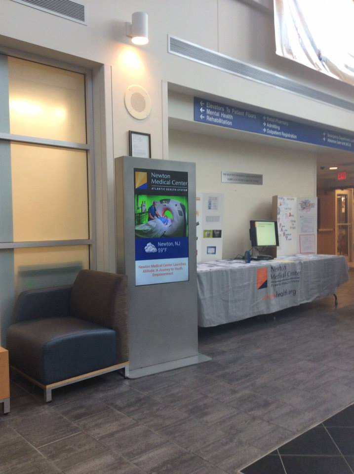 Healthcare digital signage at Atlantic Health System hospitals