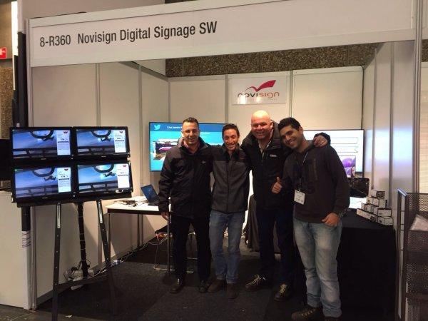 ISE 2017 - NoviSign digital signage booth