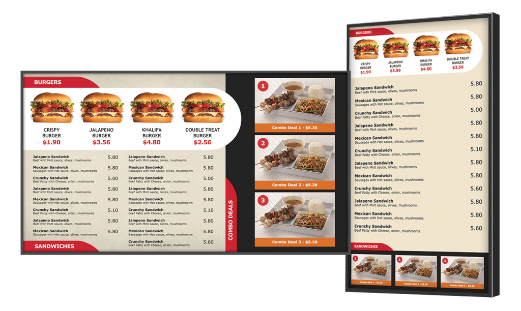 Fast Food Digital Menu Boards