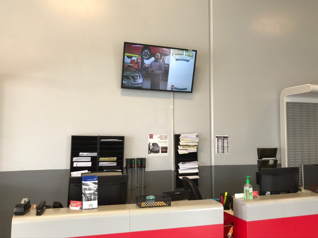 digital signage for mechanics