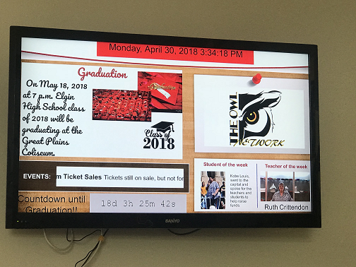 digital signage for high schools
