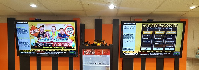 Amusement Park Digital Signage