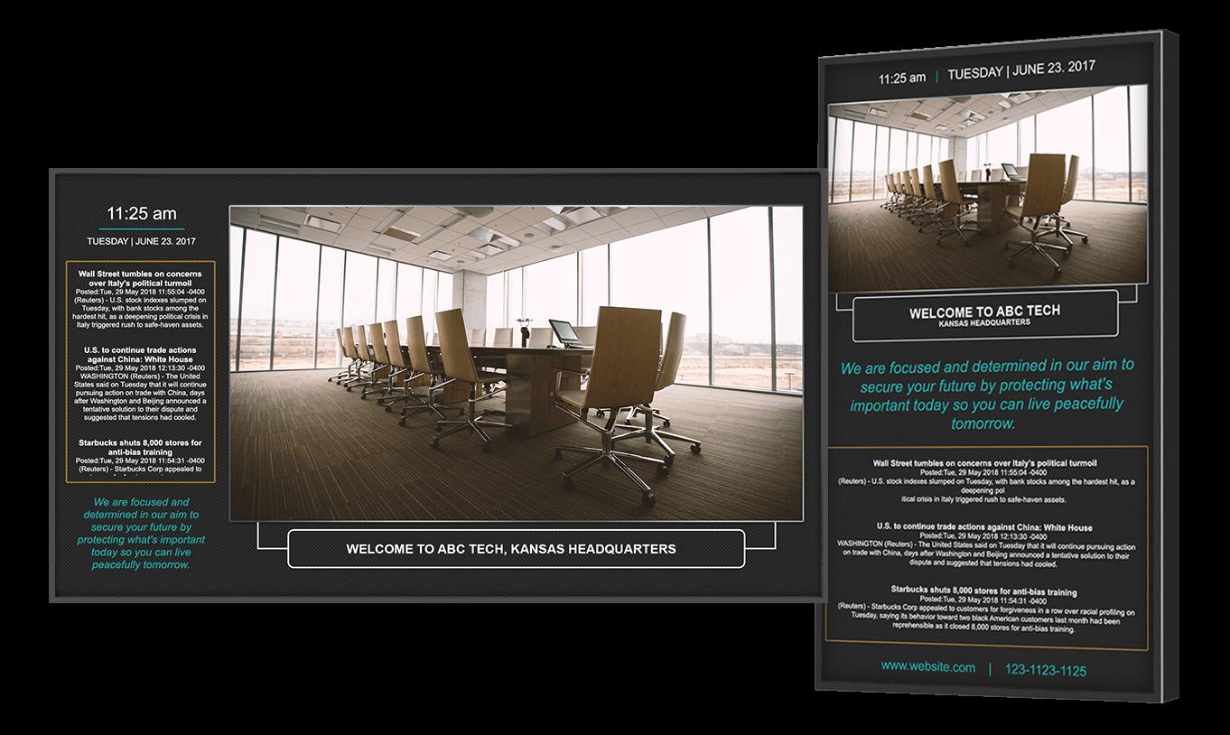 digital signage for corporate communications. Black Bedroom Furniture Sets. Home Design Ideas