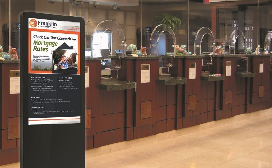 Digital kiosks for banks
