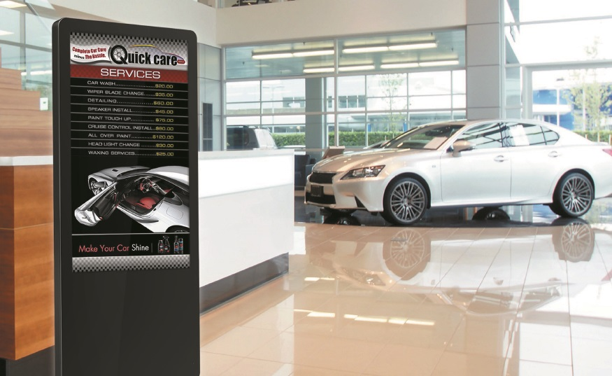Digital kiosks for car dealerships