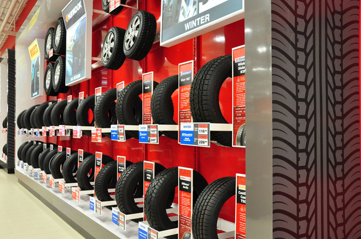 digital signage for tire shops
