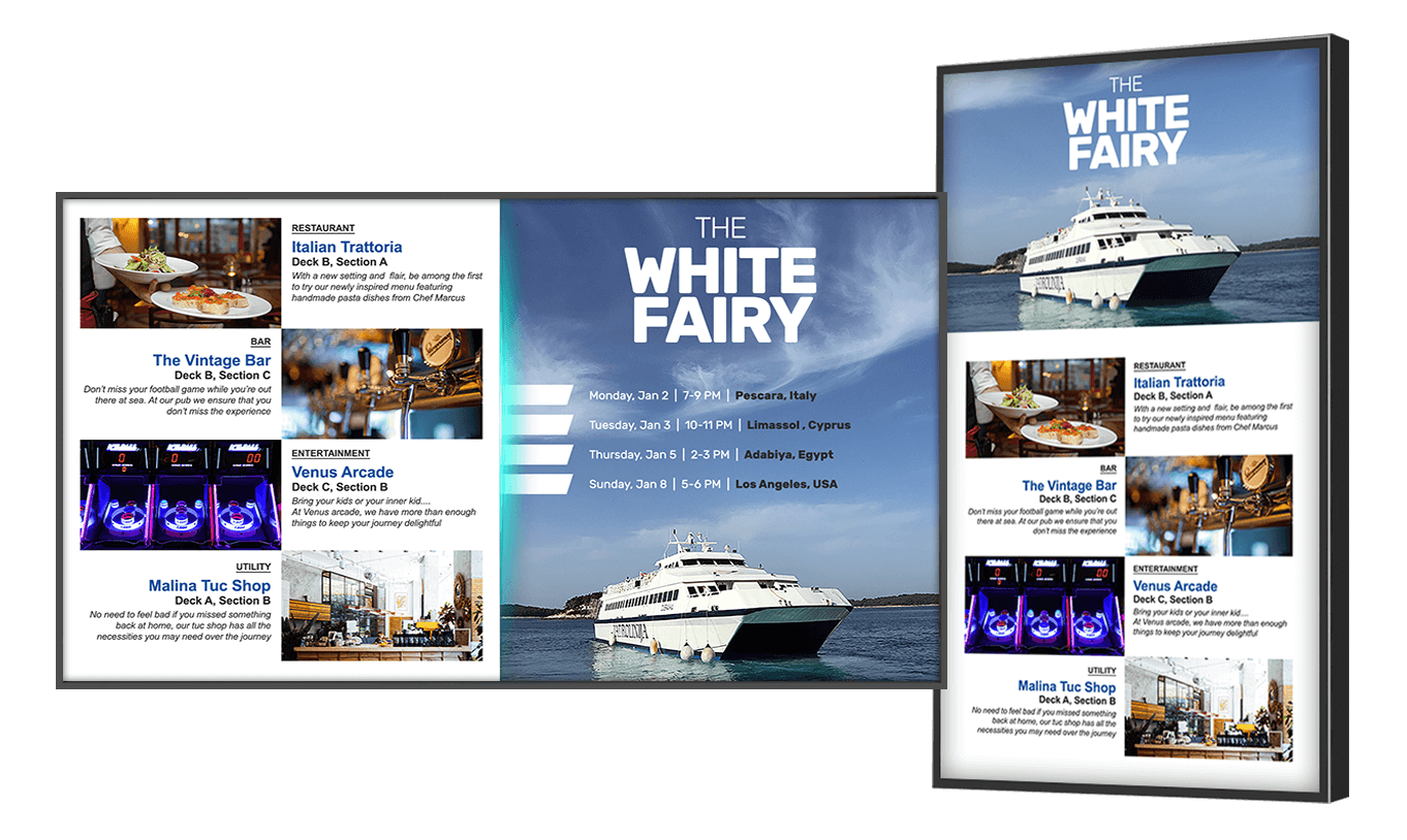 Digital Signage for Cruise Lines
