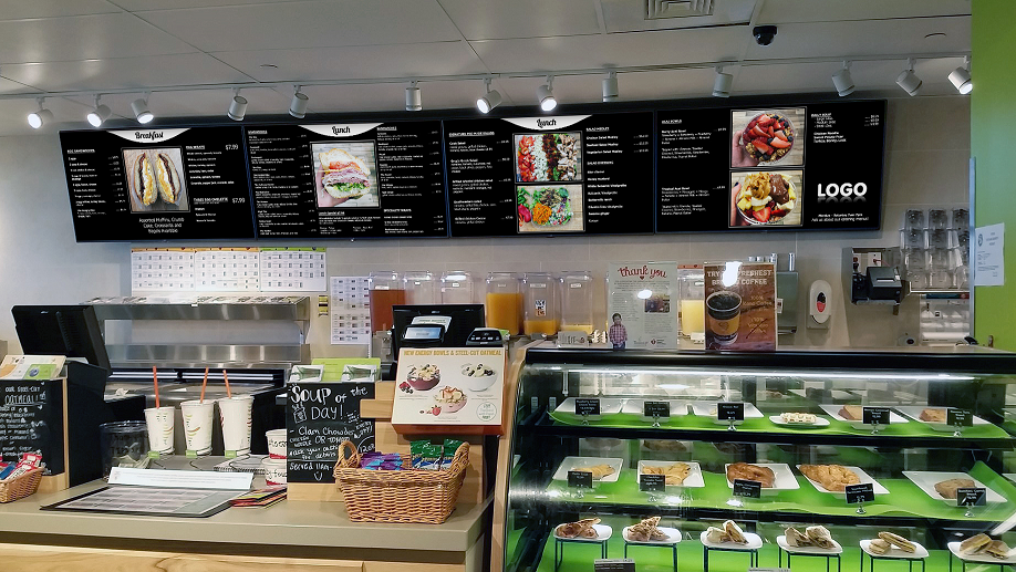 Deli digital menu boards