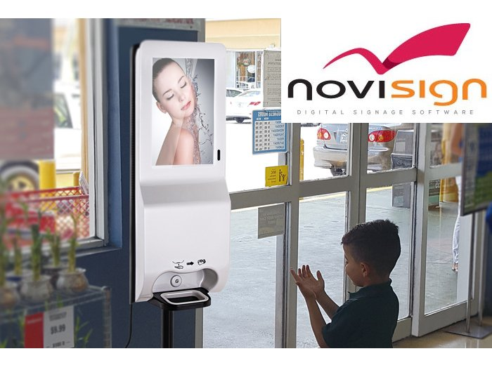 Hand sanitizer kiosks