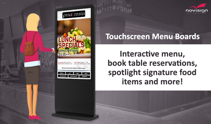 touchscreen menu kiosk