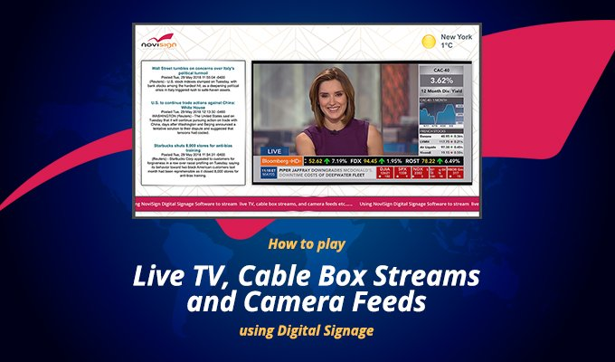 Live TV zone in digital signage