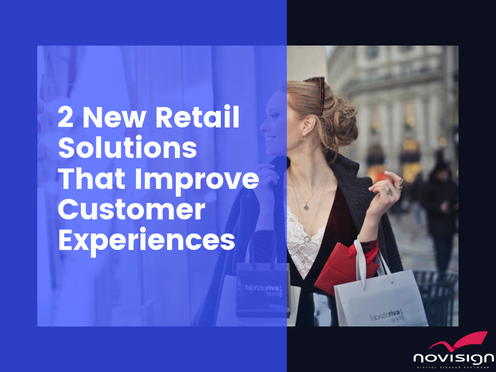 retail digital signage experiences