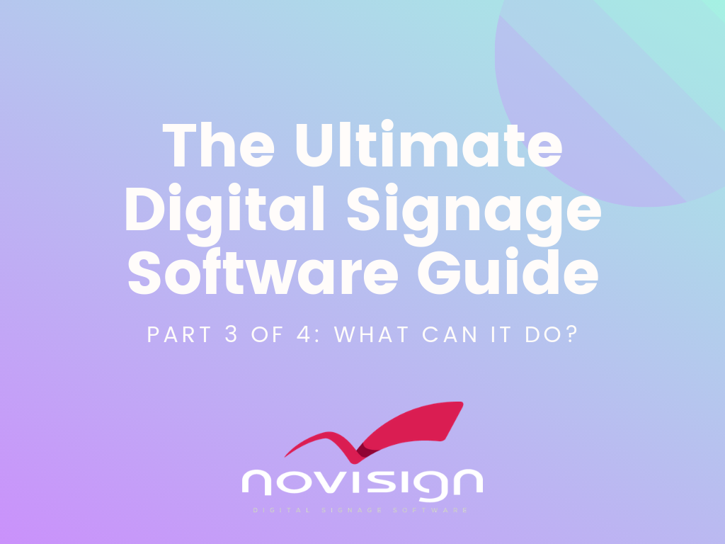 what can digital signage software do