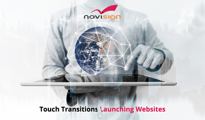Touch transitions - launch website