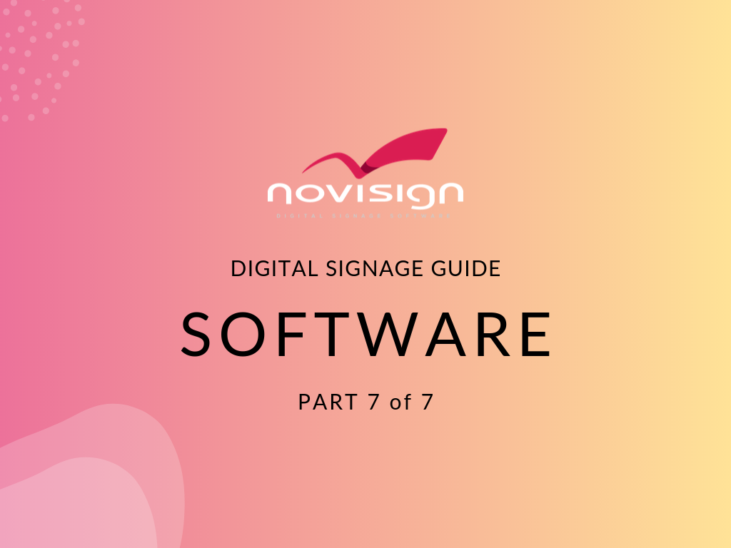 what is digital signage software