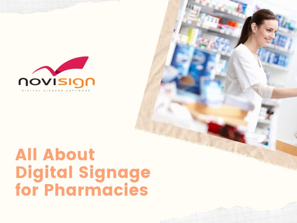 All About Digital Signage for Pharmacies