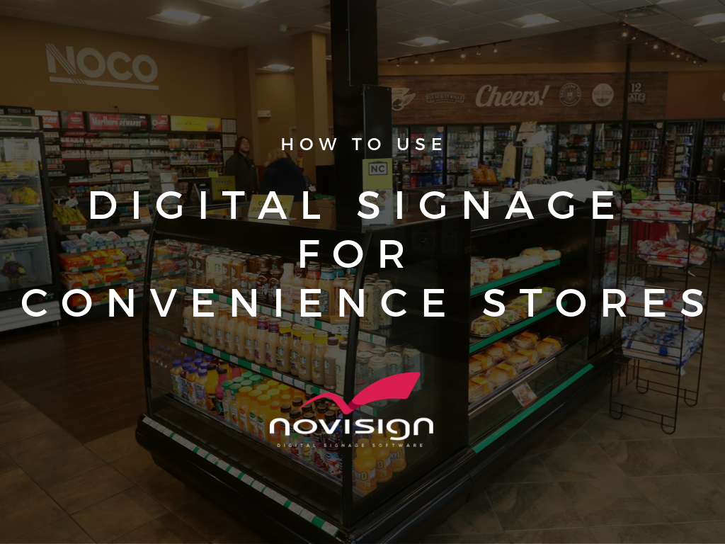digital signage for Convenience stores