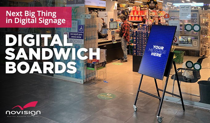 Sandwich boards digital signage