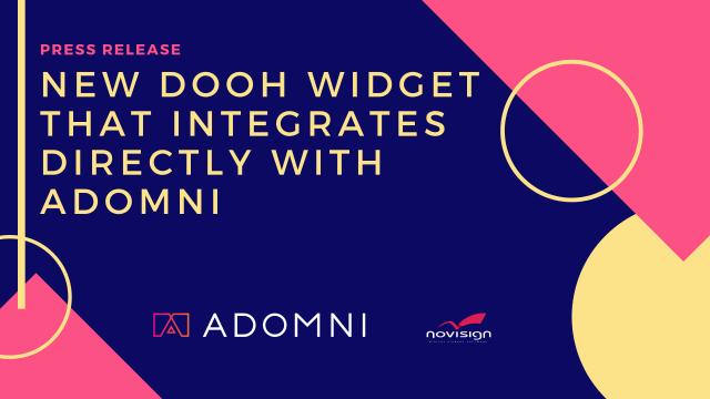 DOOH widget Adomni