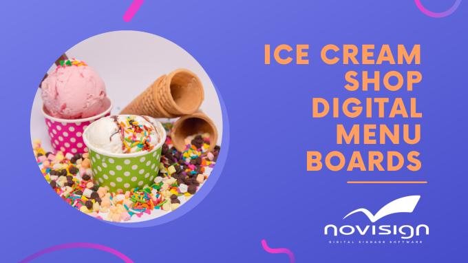 Ice Cream Shop Digital Menu Boards