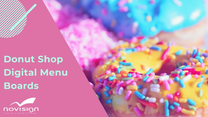 Donut shop digital menu boards