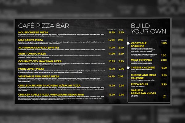 Pizza Digital Menu Boards