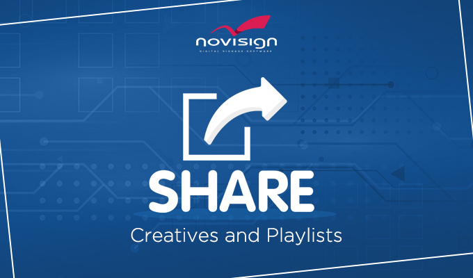 Share creatives and playlists