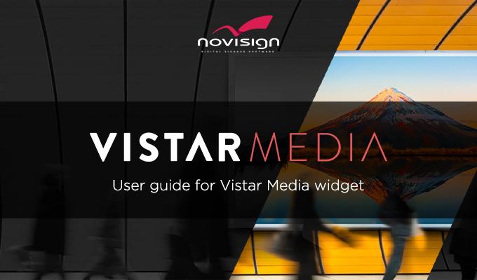 Userguide for Vistar Media widget