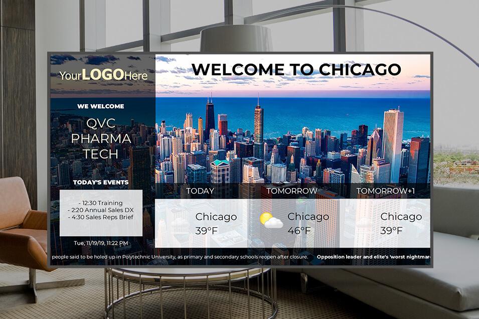 Digital signage for lobbies