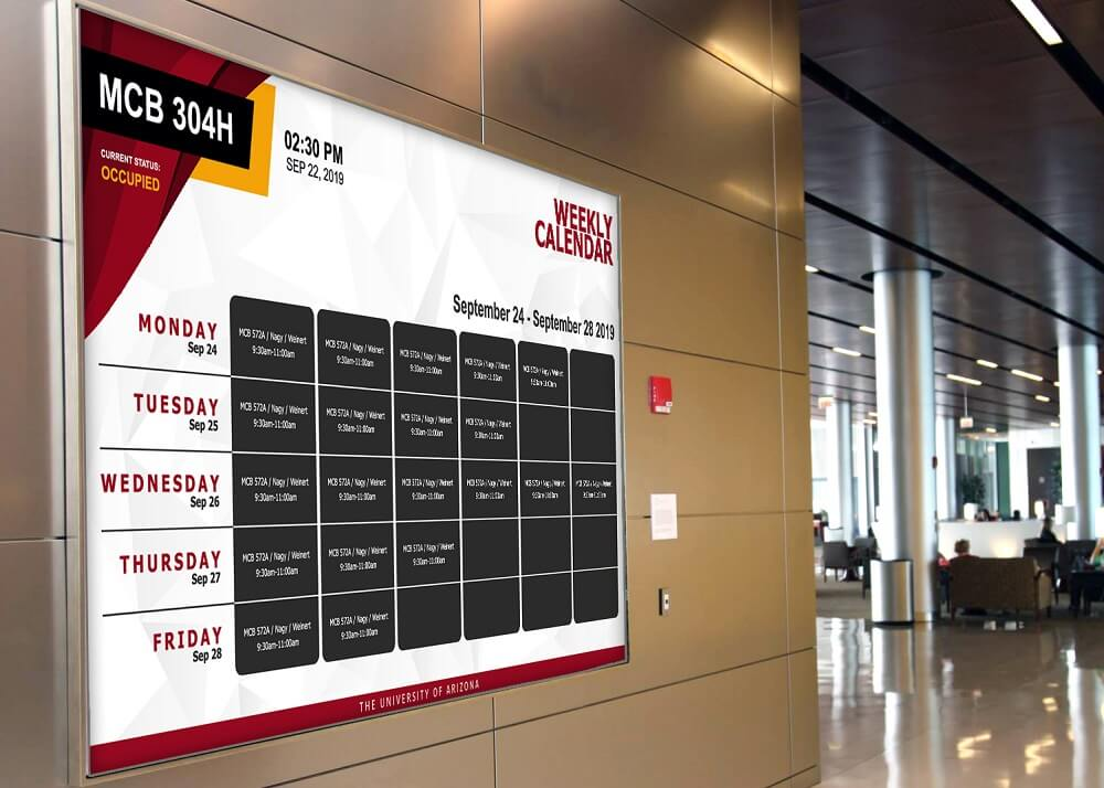 Corporate communications digital signage