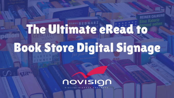 Book store digital signage