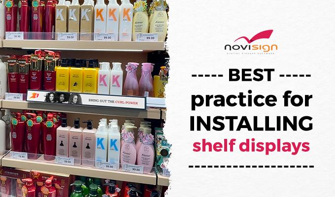 Best practice for installing eShelves