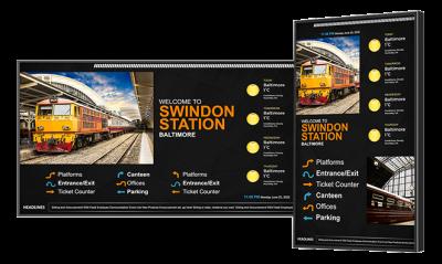 Train station digital signage