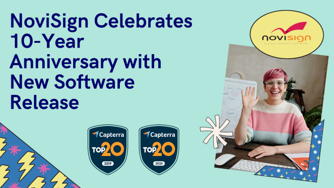 NoviSign Celebrates 10-Year Anniversay with New Software Release