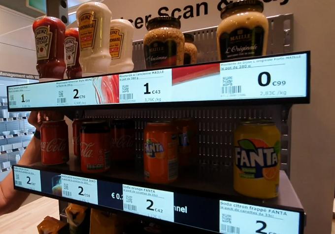 Digital signage softlabels for retail